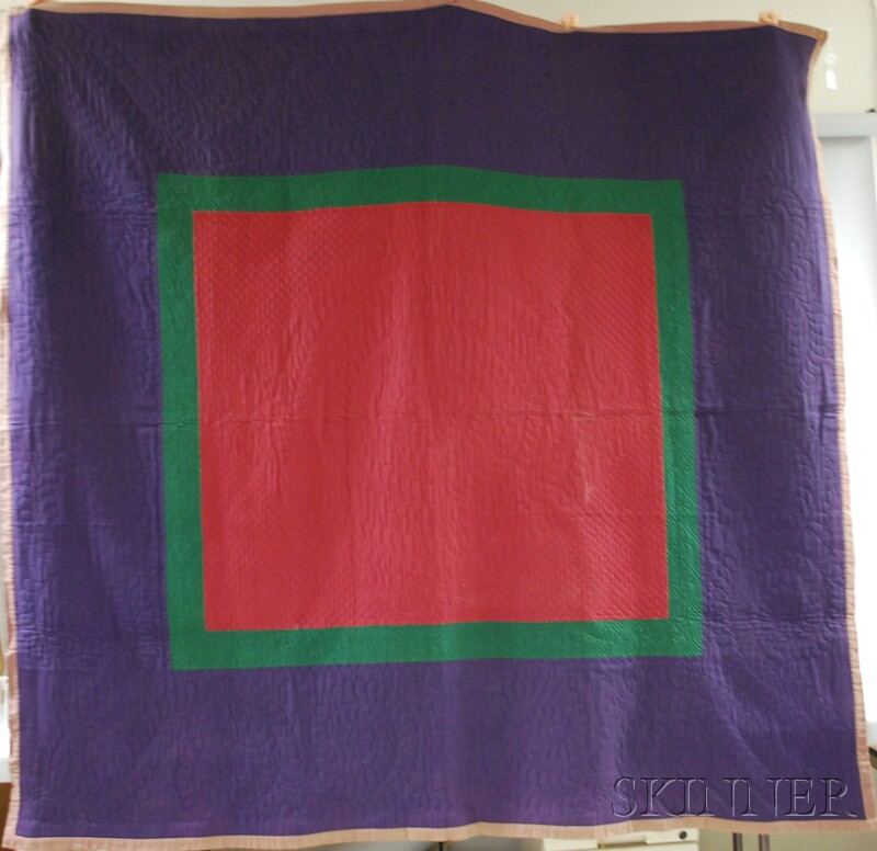 Amish Pieced Wool Quilt