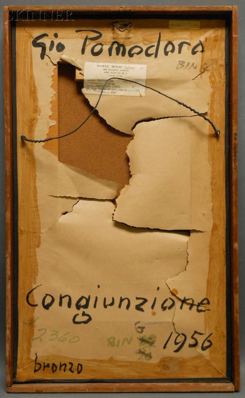 Giò Pomodoro (Italian, 1930-2002)      Congiunzione [Conjunction]