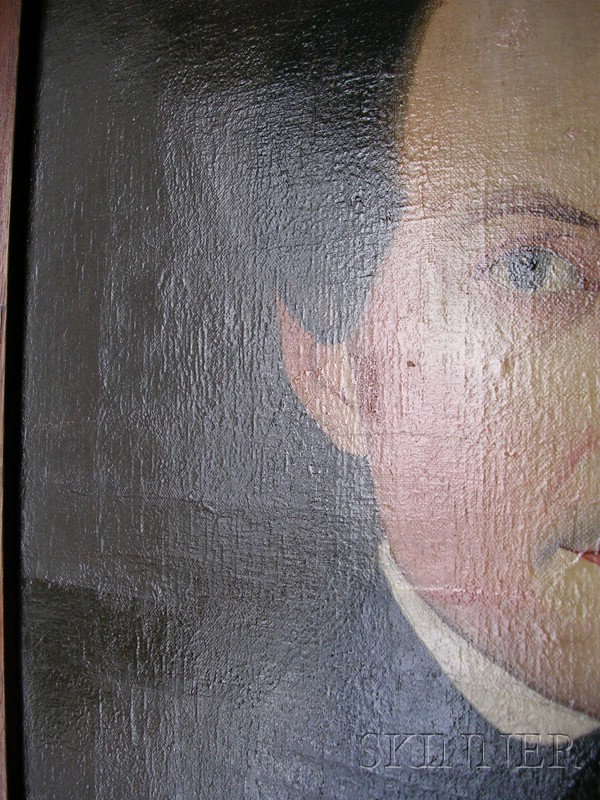 Attributed to Sheldon Peck (American, 1797-1868)      Portrait of a Gentleman with Blue Eyes.