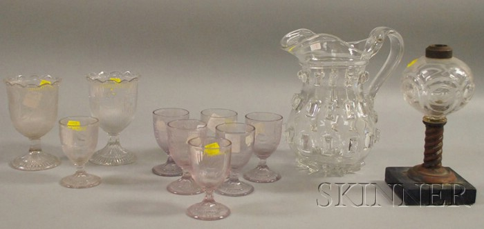 Lot of Colorless Pressed Pattern and Molded Glass