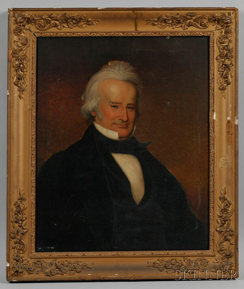 American School, Mid-19th Century      Portrait of Rhode Island Governor and United States Senator John Brown Francis (1791-1864)