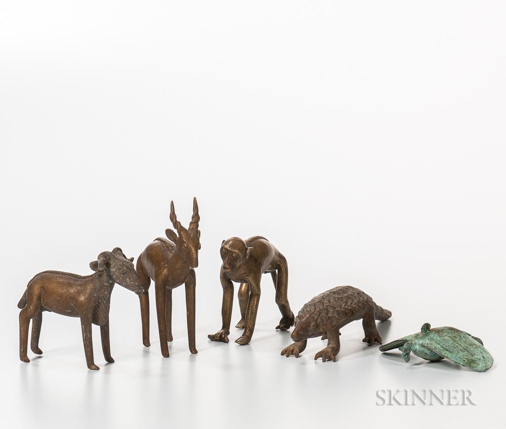 Five Bronze Animals