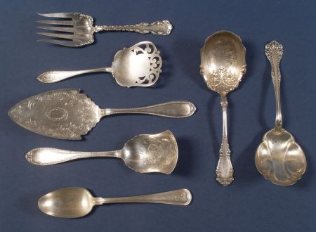 Six American Sterling Flatware Serving Pieces