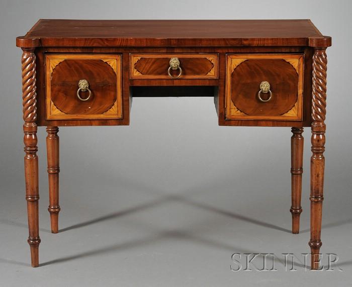 George III  Inlaid Mahogany Diminutive Sideboard
