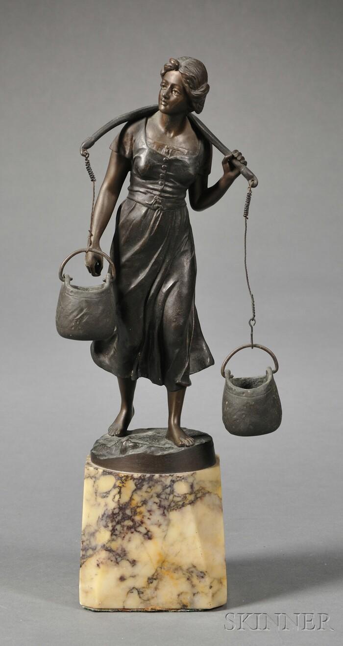 Bronze Figure of a Water Carrier
