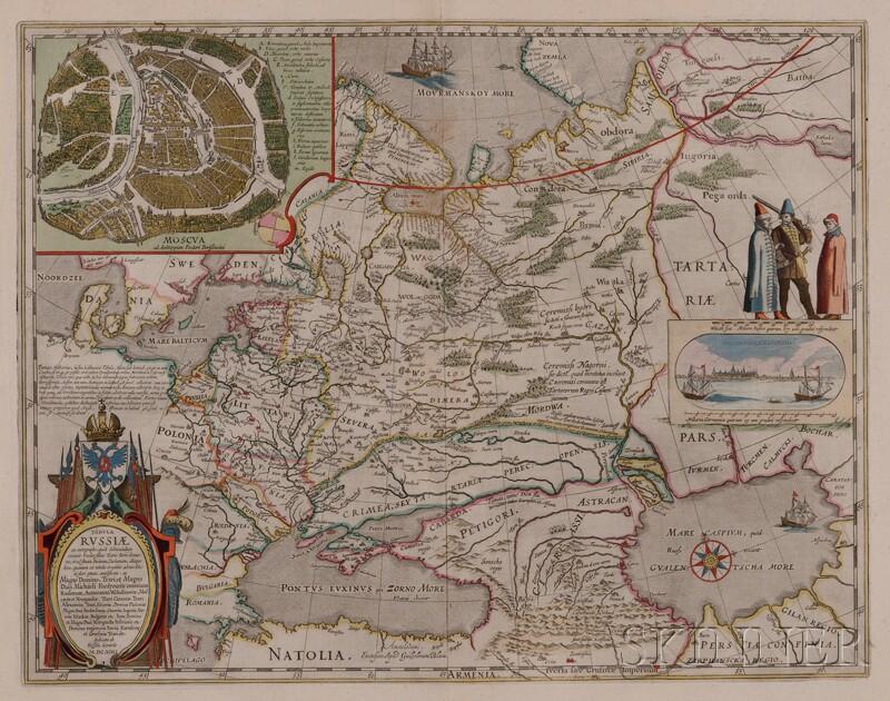Russia. Willem Blaeu (1571-1638) Tabula Russiae
