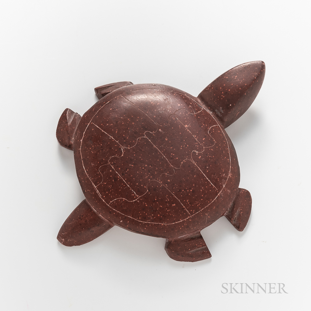 Plains Carved Catlinite Turtle