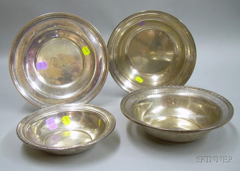 Four Sterling Tablewares