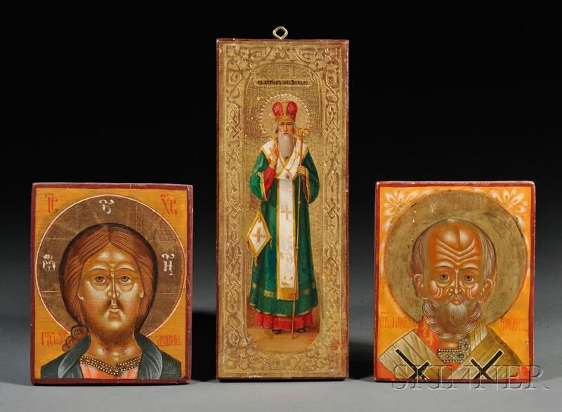 Three Small Russian Icons