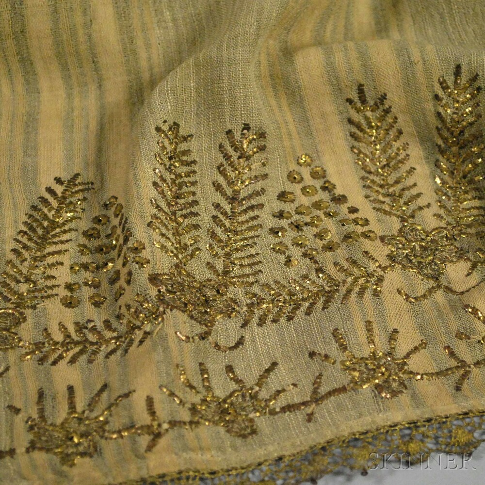 Two Eastern European/Russian Metallic-threaded Embroideries