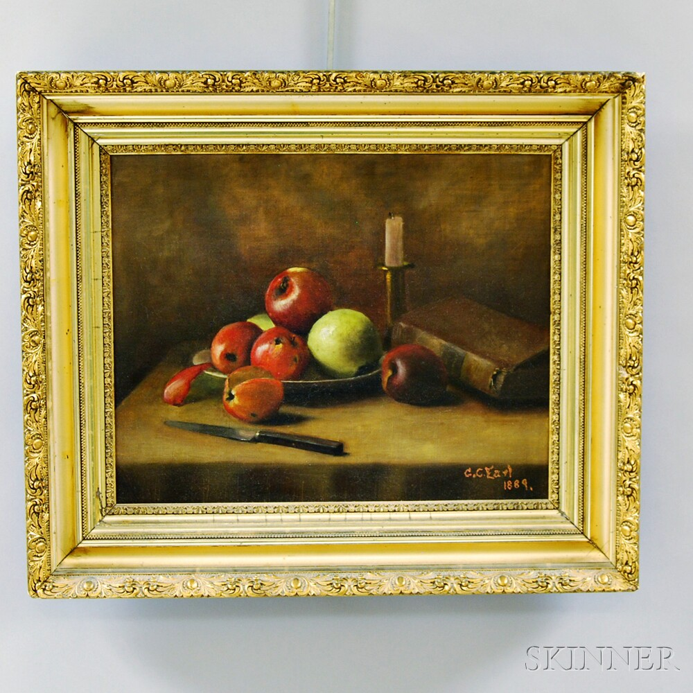 Continental School, 19th Century       Still Life with Apples.