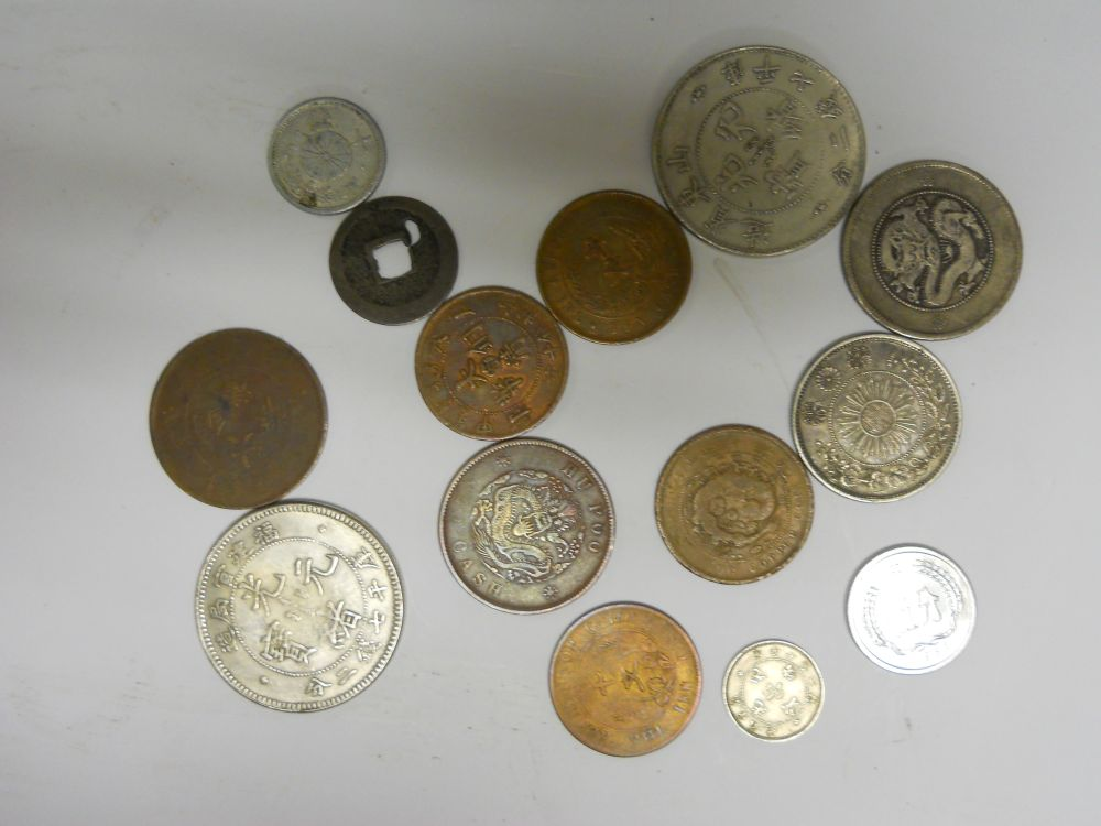 Collection of Coins and Paper Bills