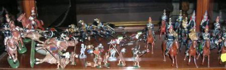 Group of Forty-five Painted Metal Soldiers and Figures