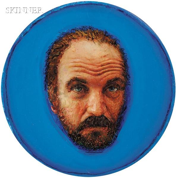 Gregory Joseph Gillespie  (American, 1936-2000)      Portrait of Randall Deihl
