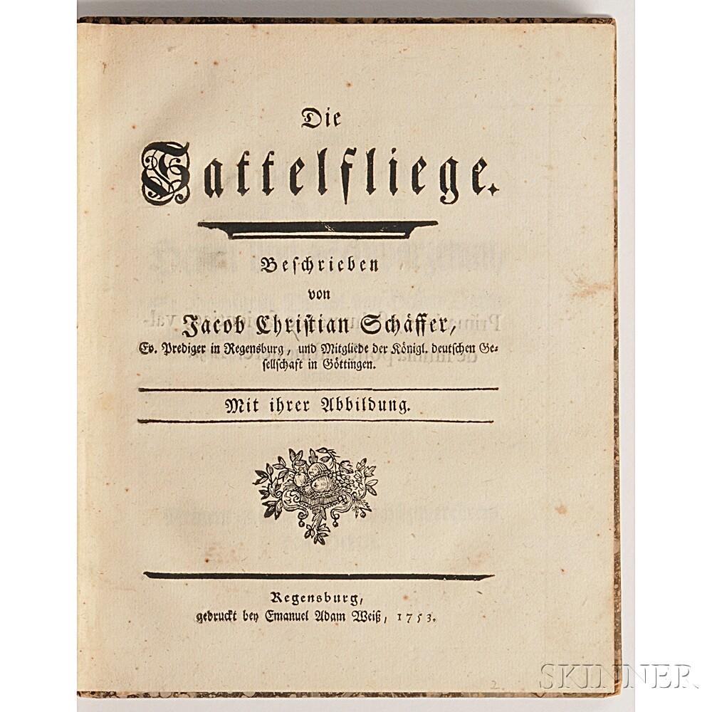 Schäffer, Jacob Christian (1718-1790) Die Sattelfliege.