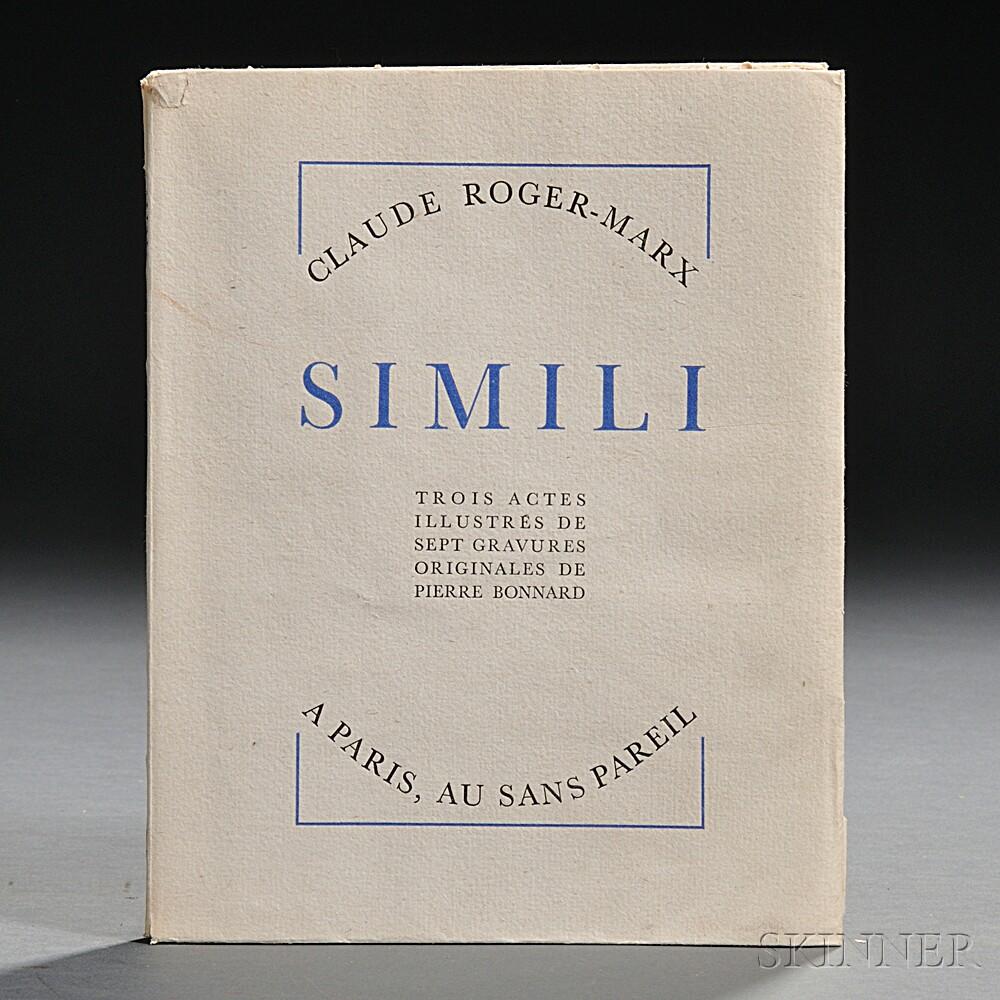 Roger-Marx, Claude (1888-1977) Simili  , Illustrated by Pierre Bonnard (1867-1947)