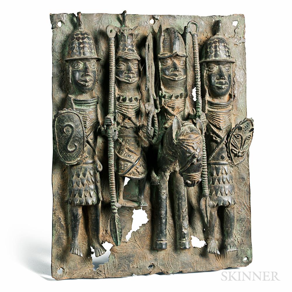 Benin-style Metal Palace Plaque