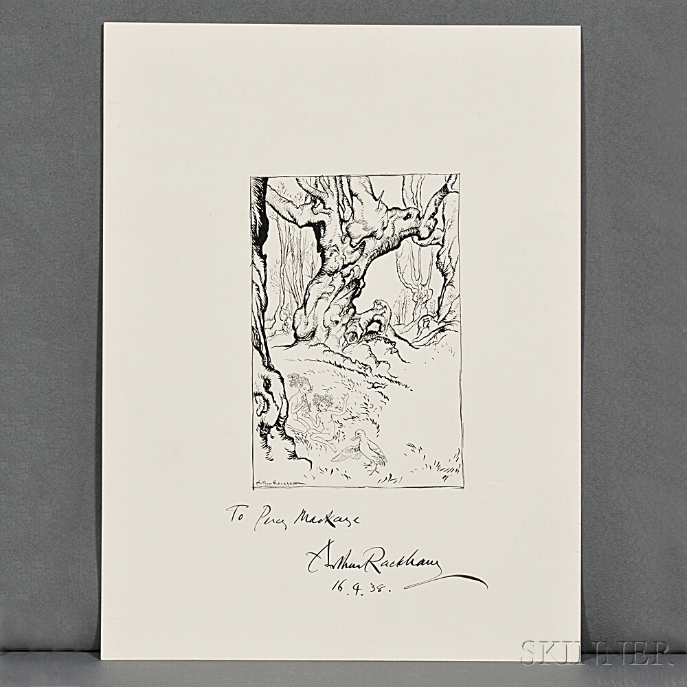 Rackham, Arthur (1867-1939) Signed Print.