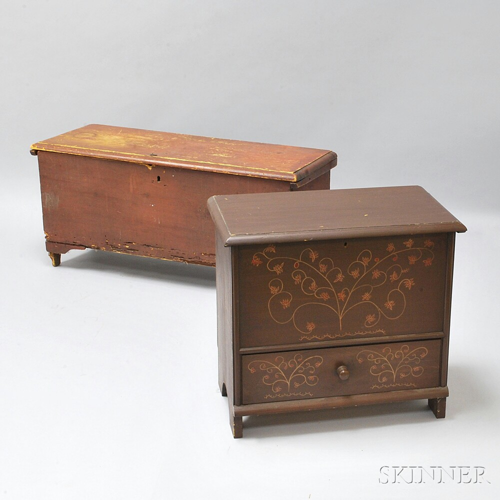 Two Small Six-board Chests