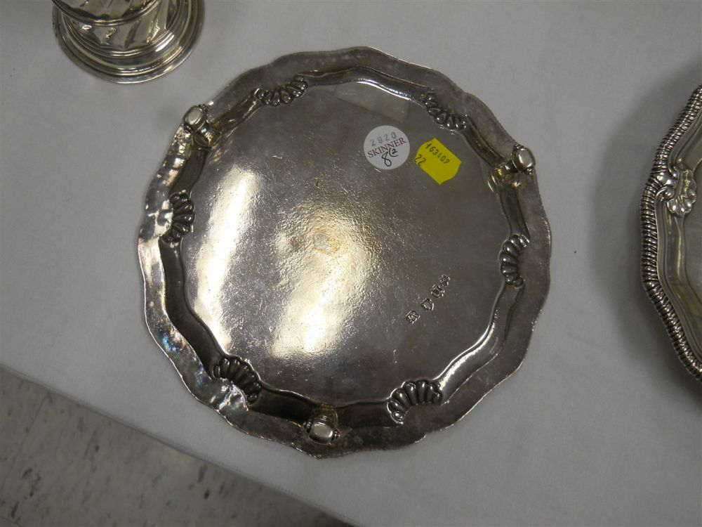 Two George II Sterling Silver Salvers