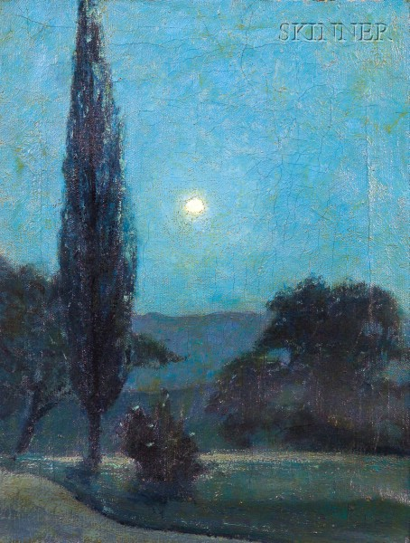 Attributed to Birge (Lovell Birge) Harrison (American, 1854-1929)      View with a Moonlit Sky