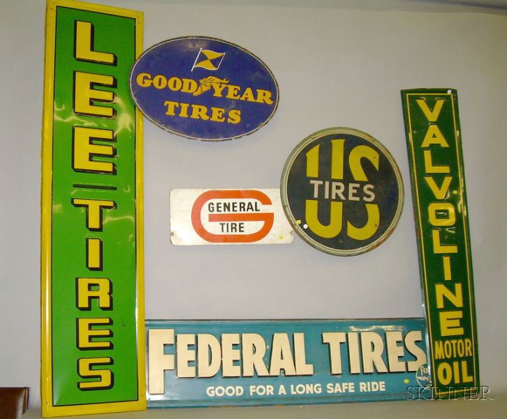 Six Auto Related Signs