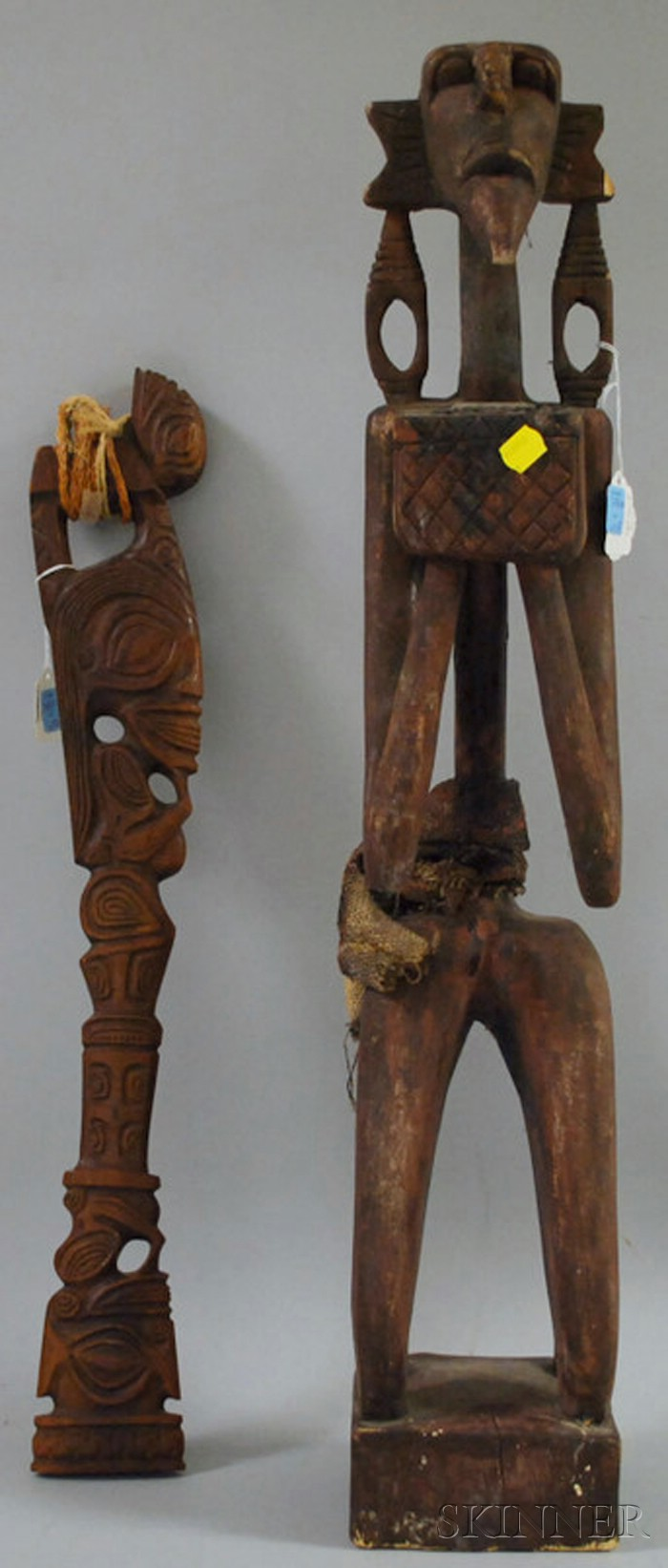 Two Carved Wooden Ethnographic Figures
