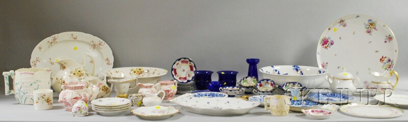 Large Lot of Decorated English and Continental Hand-painted and Decorated Ceramics