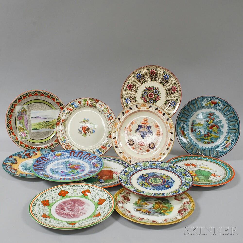 Twelve Ceramic Wedgwood Plates