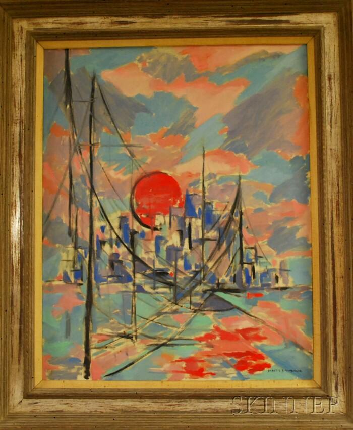 American School, 20th Century      Bridge at Sunset