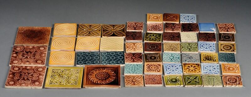Fifty-three J. & J.G. Low Tiles