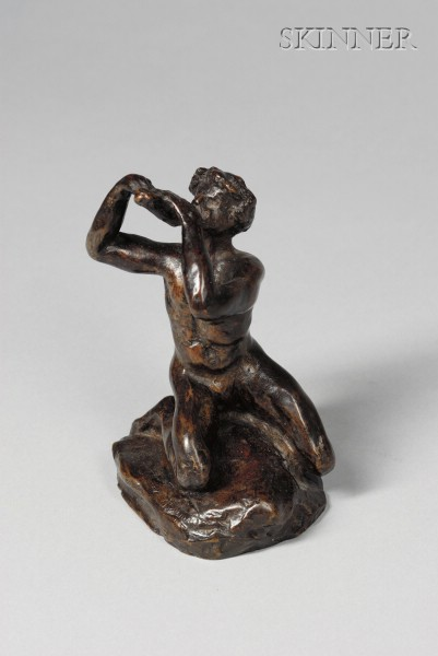Nanna Mathews Bryant (American, 1870-1933)      Kneeling Figure Playing Flutes