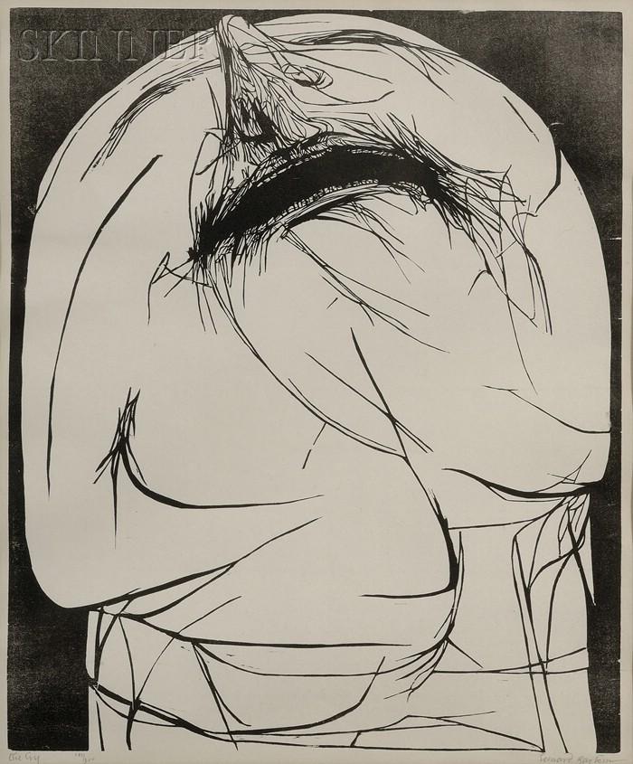 Leonard Baskin (American, 1922-2000)      The Cry