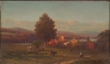Frederick Rondel (American, 1826-1892)    Cattle Pasture