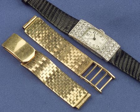Art Deco Platinum and Diamond Wristwatch, Audiguet