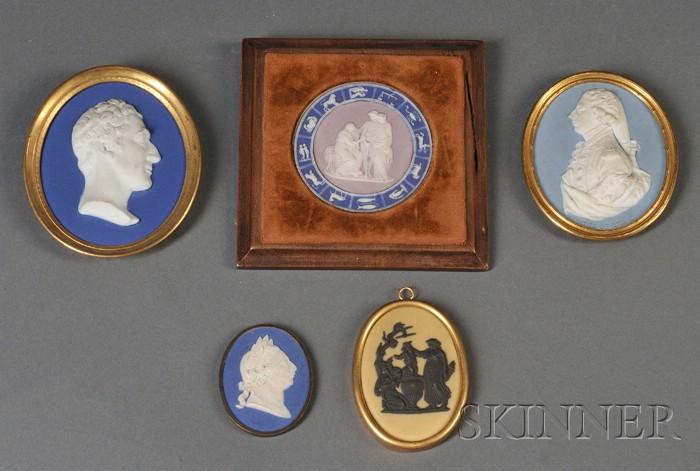 Five Assorted Wedgwood Jasper Medallions