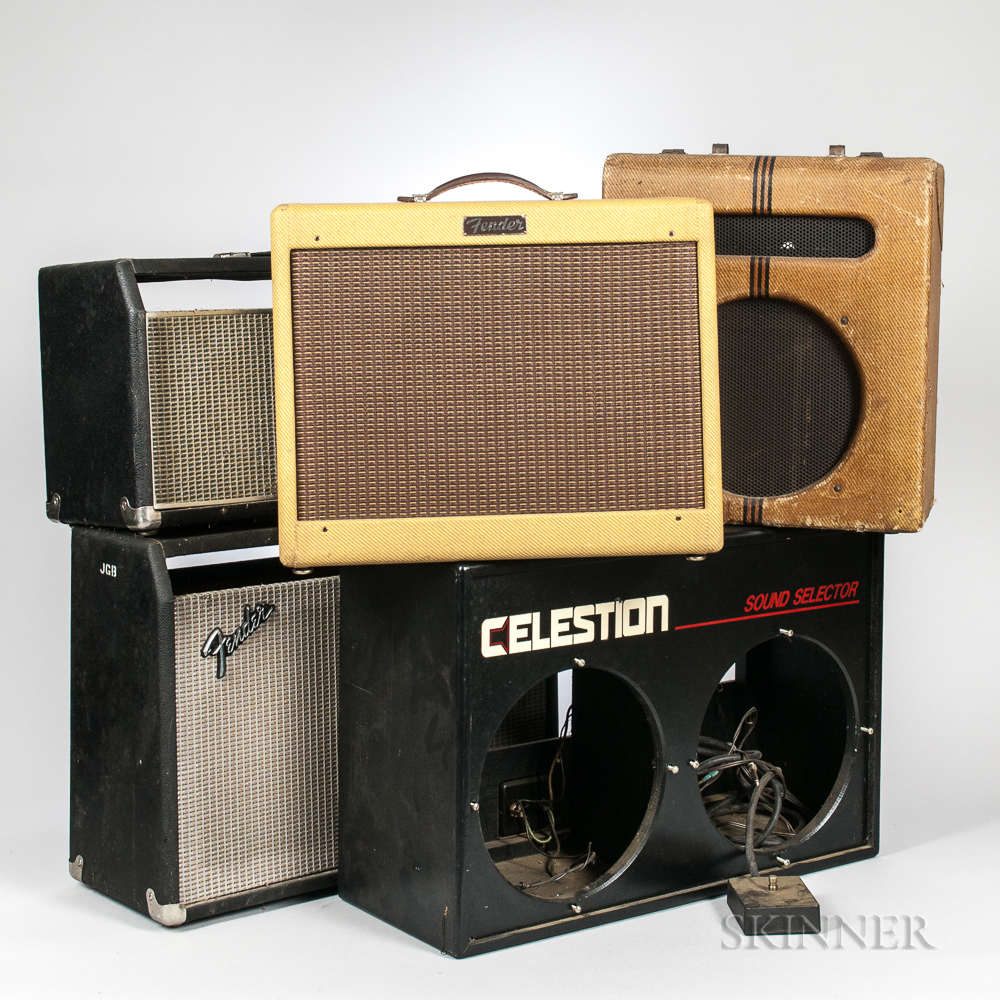 Group of Amplifier and Speaker Cabinets