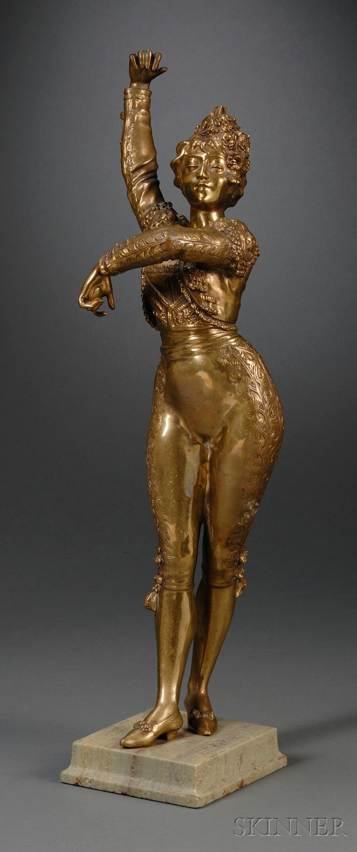 Louis Chalon (French, 1866-1916)   Bronze Figure of a Spanish Dancer