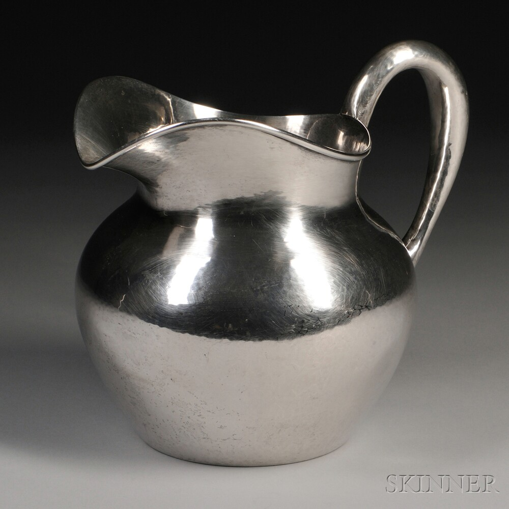 The Kalo Shop Hand-hammered Sterling Silver Water Pitcher