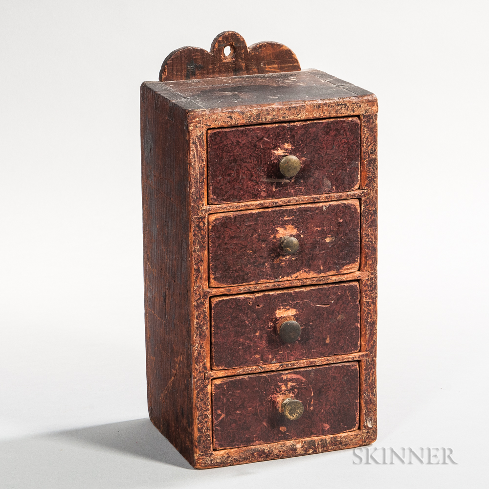 Hanging Miniature Chest of Four Drawers