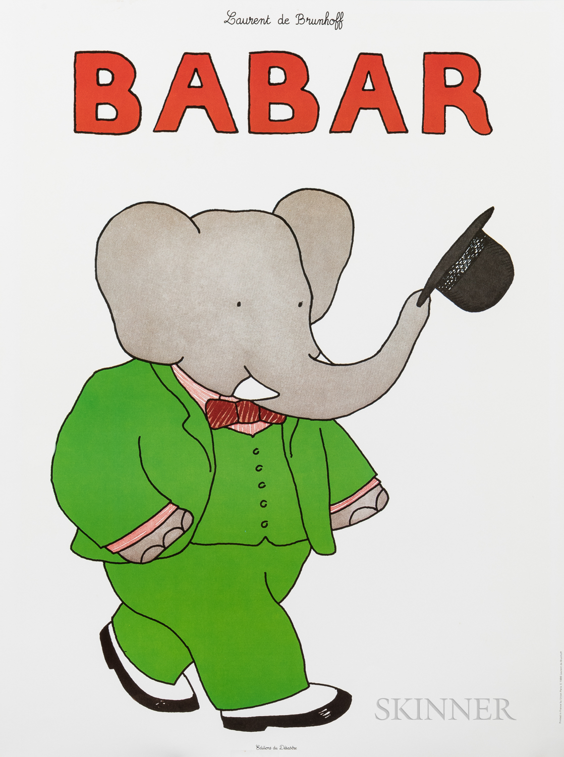 Two Large Babar Posters