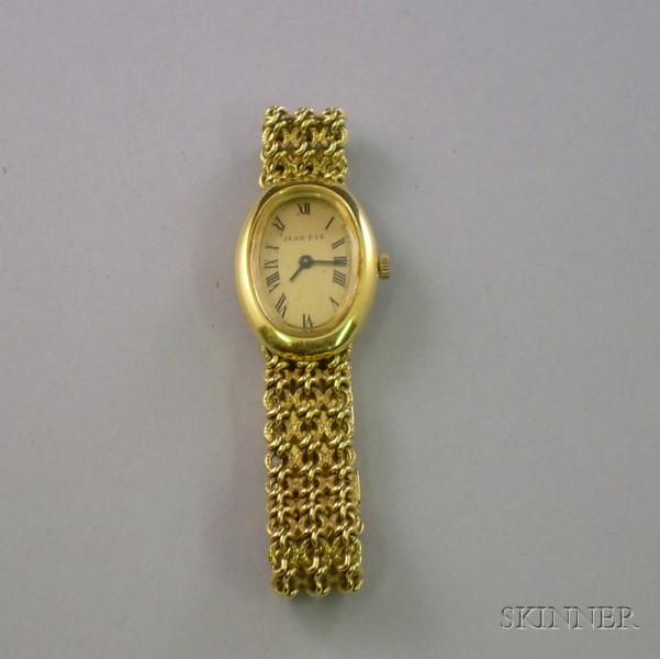 18kt Gold Swiss Beuche-Girod 17-Jewel Wristwatch.