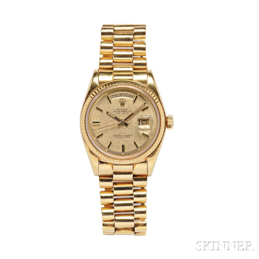 "Gentleman's 18kt Gold ""Oyster Perpetual Day-Date"" Wristwatch, Rolex"