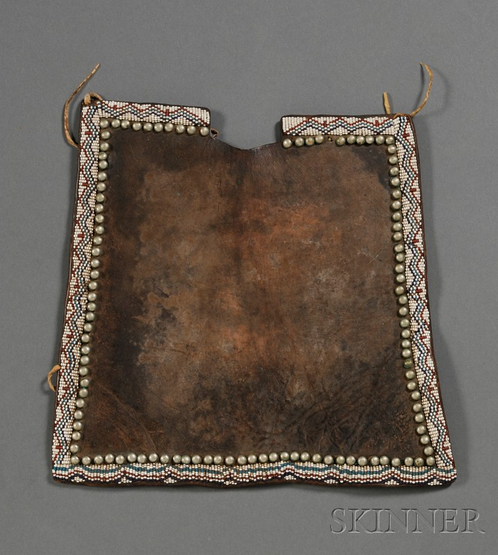 Plains Beaded Commercial Leather Cradle Fragment