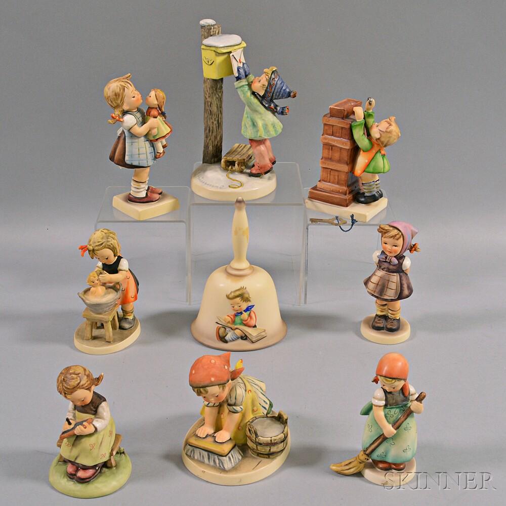 Nine Hummel Figures