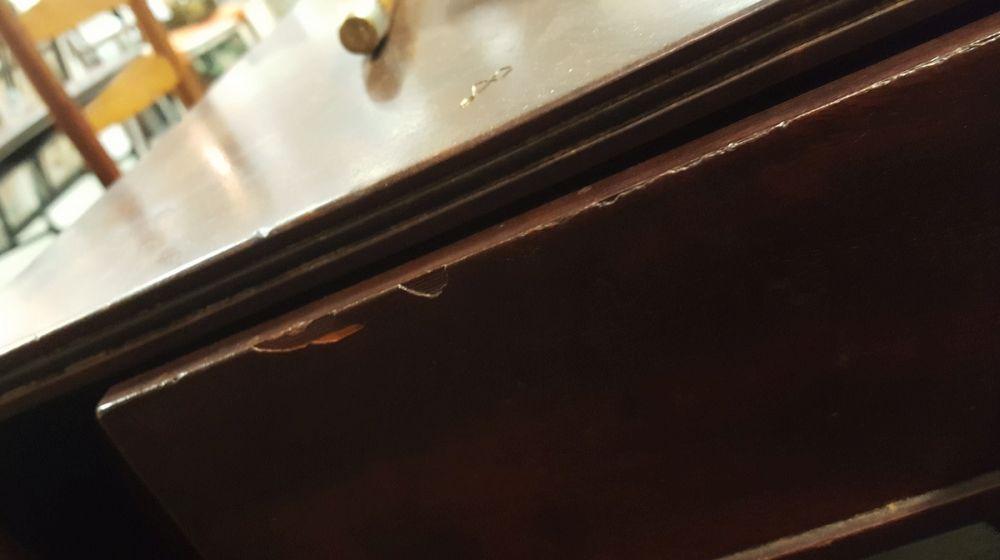 Classical Mahogany and Mahogany Veneer One-drawer Drop-leaf Table