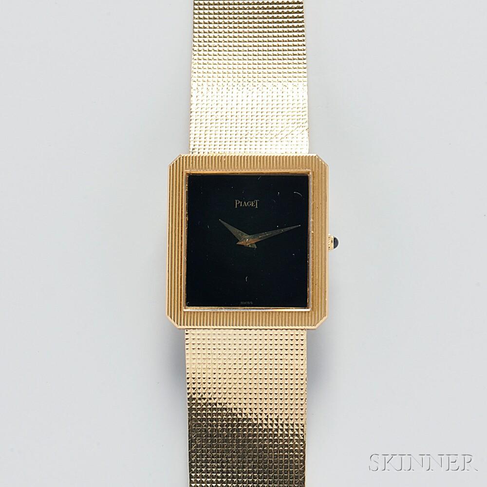 Piaget, Gentleman's 18kt Gold Wristwatch