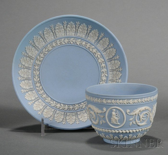Wedgwood Solid Light Blue Jasper Tea Bowl and Saucer