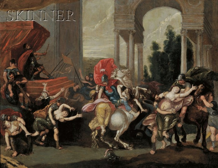 French School, 19th Century      Rape of the Sabine Women