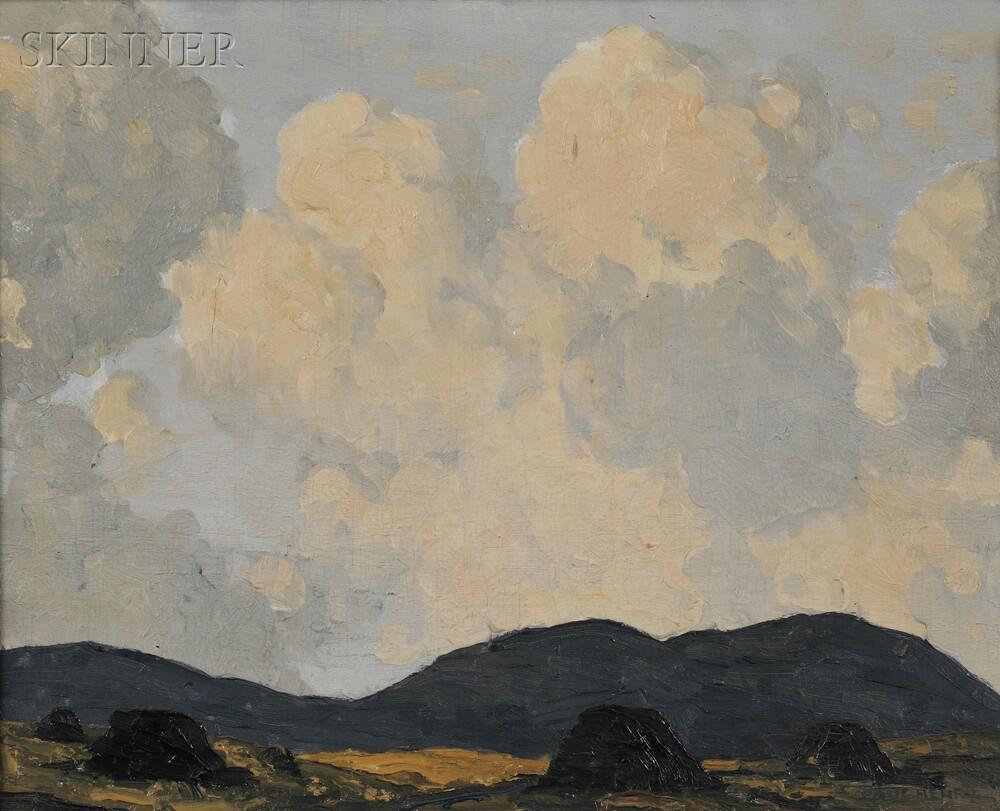 Paul Henry (Irish, 1876-1958)      A Bog Near Dingle, Co., Kerry